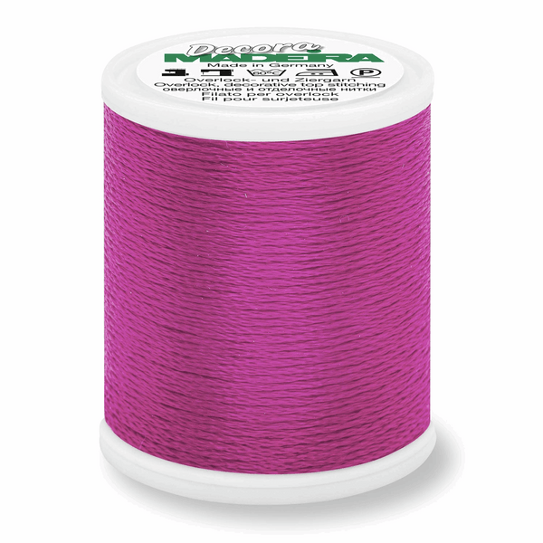 Wild Berry - Madeira Decora 6 Decorative Overlocker Thread 100m-Madeira-Splashings of Fabric