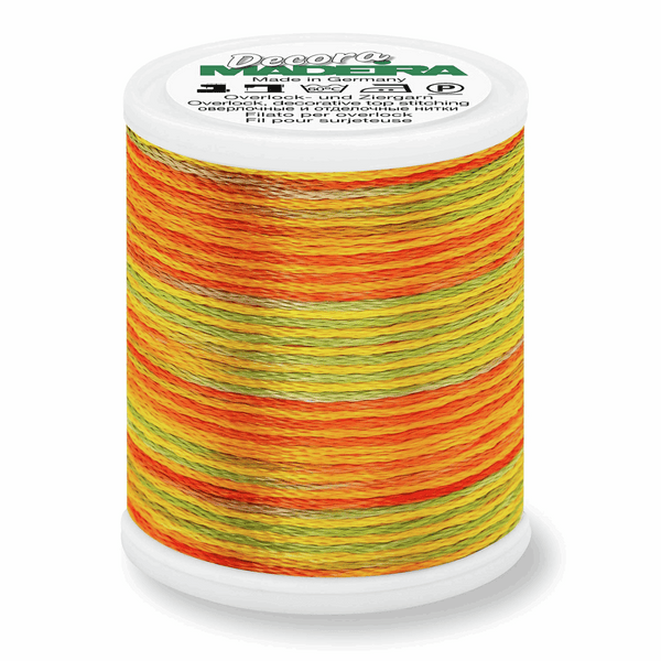 Sunrise - Madeira Decora 6 Decorative Overlocker Thread 100m-Madeira-Splashings of Fabric