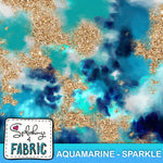 Tie Dye - Aquamarine Sparkle - Large-Custom-Splashings of Fabric