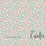 Pastel Mini Leopard Print - Exotic - Organic Cotton Poplin-Lillestoff-Splashings of Fabric