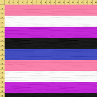 80cm - Pride - Gender Fluid Stripes - Jersey - FLAWED-Custom-Splashings of Fabric