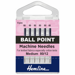 Size 80/12 Ball Point Machine Needles-HemLine-Splashings of Fabric