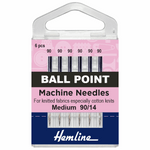 Size 90/14 Ball Point Machine Needles-HemLine-Splashings of Fabric