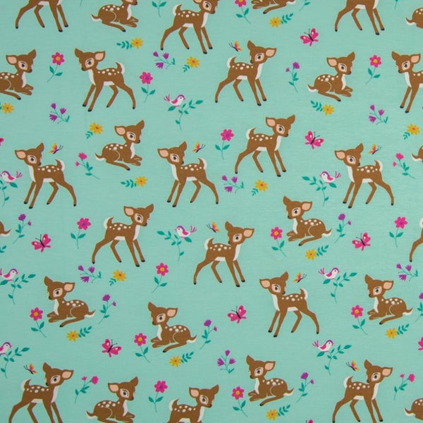 Bambi - Dusty Mint-QjuTie-Splashings of Fabric