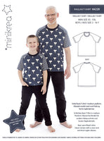 MiniKrea - 66220 RAGLAN T-SHIRT – Paper Pattern-MiniKrea-Splashings of Fabric