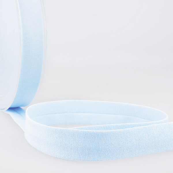 Light Blue - 20mm - Stretch Bias Binding-Stephanoise-Splashings of Fabric