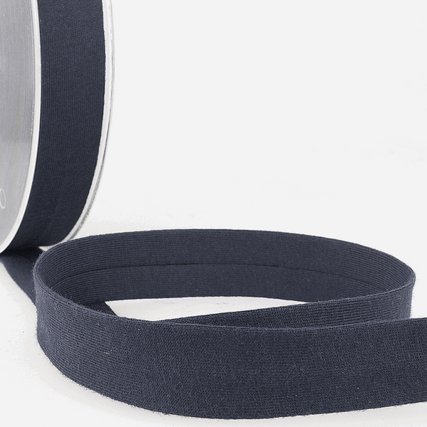 Navy - 20mm - Stretch Bias Binding-Stephanoise-Splashings of Fabric