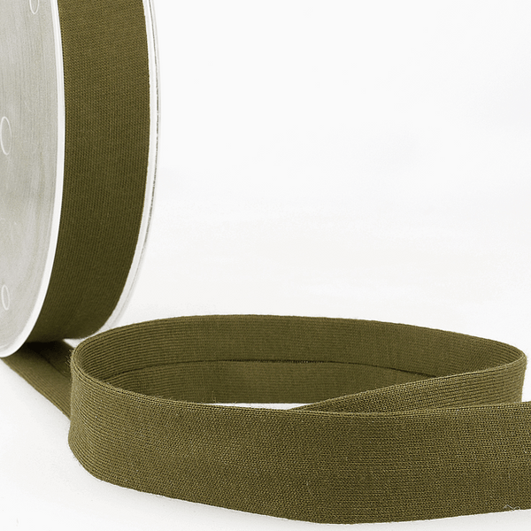 Khaki - 20mm - Stretch Bias Binding-Stephanoise-Splashings of Fabric