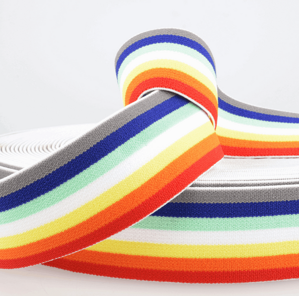 40mm Rainbow soft elastic-Stephanoise-Splashings of Fabric