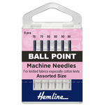 Mixed Size Ball Point Machine Needles-HemLine-Splashings of Fabric