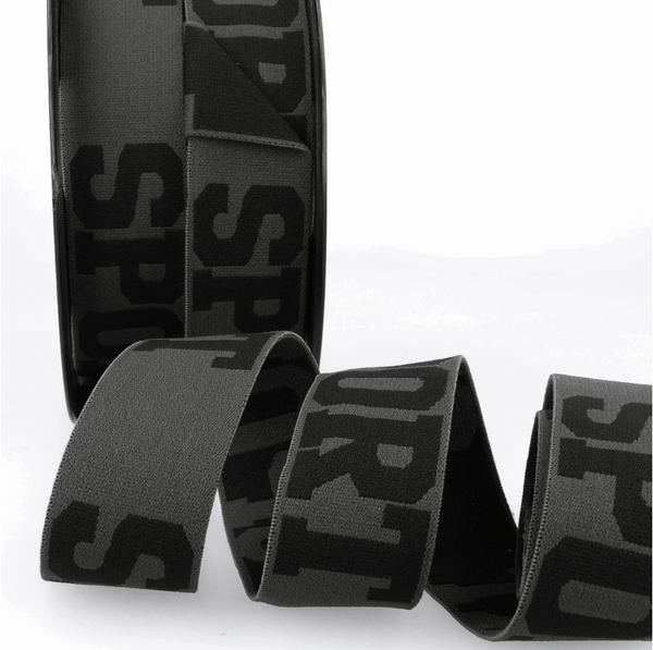 32mm - Sport - Grey/Black - Waistband soft elastic-Stephanoise-Splashings of Fabric