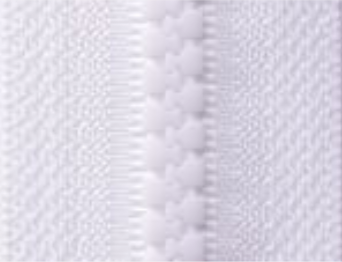 White B3 - Open Ended Chunky Zip-Splashings of Fabric-Splashings of Fabric