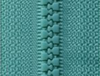 Jade Green B29 - Open Ended Chunky Zip-Splashings of Fabric-Splashings of Fabric