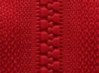 Fire Red D820 - Open Ended Chunky Zip-Splashings of Fabric-Splashings of Fabric