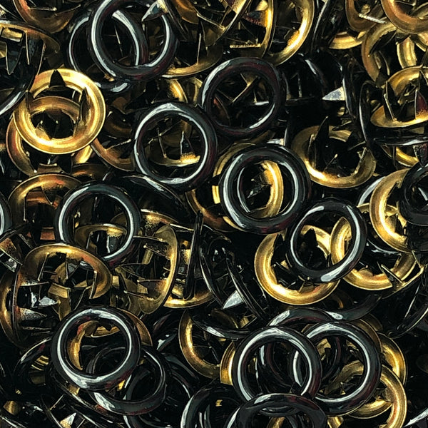 Black - 11mm Open Ring Snap - 20pk-Splashings of Fabric-Splashings of Fabric