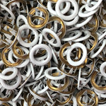 White - 11mm Open Ring Snap - 20pk -Splashings of Fabric-Splashings of Fabric