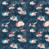 95cm - Faerie Clouds - Cotton Poplin-Custom-Splashings of Fabric