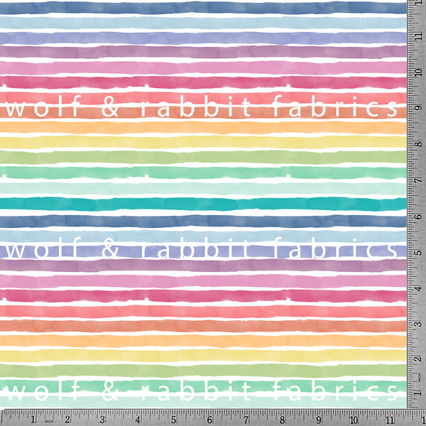 PREORDER - Summer Stripes - GOTs Organic Jersey-Wolf and Rabbit-Splashings of Fabric