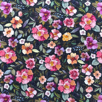 PREORDER - Victorian Rose - Dark - GOTs Organic Jersey-Wolf and Rabbit-Splashings of Fabric