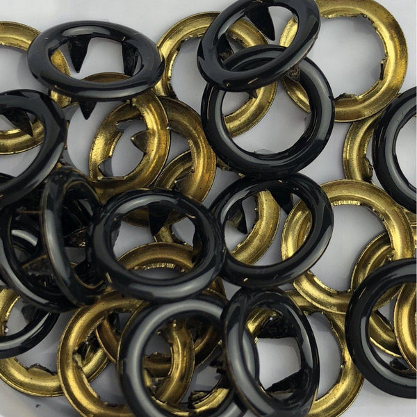 Black B5 - 11mm Open Ring Snap - 20pk-Splashings of Fabric-Splashings of Fabric