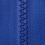 Dark Blue B16 - Open Ended Chunky Zip-Splashings of Fabric-Splashings of Fabric