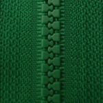Forest Green D876 - Open Ended Chunky Zip-Splashings of Fabric-Splashings of Fabric