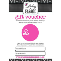Gift Voucher - Postal-Voucher-Splashings of Fabric