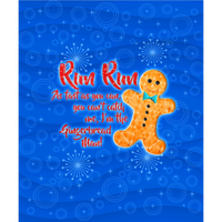 Gingerbread Men - Panel - Infant/Child-Custom-Splashings of Fabric