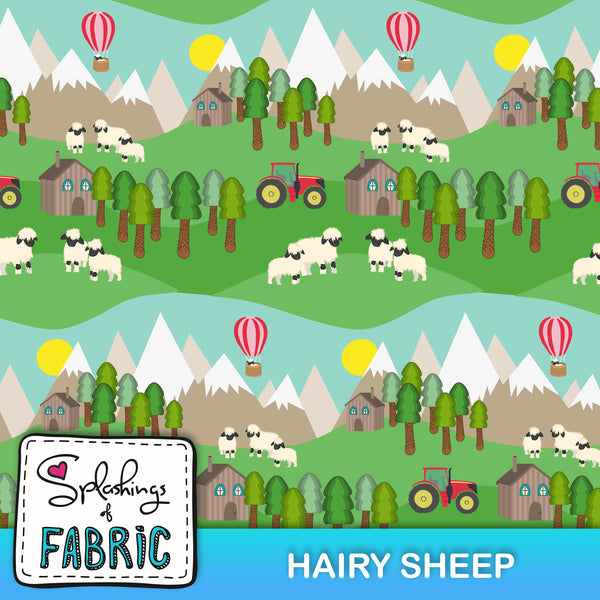 EXCLUSIVE - Hairy Sheep-Custom-Splashings of Fabric