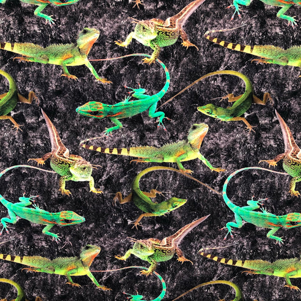Lizards - Digital Print-Digital Prints-Splashings of Fabric