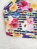 Summer Floral - Stripes - GOTs Organic Jersey-Wolf and Rabbit-Splashings of Fabric
