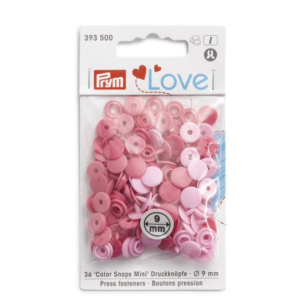 Prym Love Plastic Snaps - Mini - Pink Mix-Prym-Splashings of Fabric