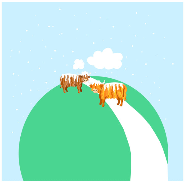 Winter Coos - Panel - Infant/Child-Custom-Splashings of Fabric