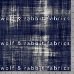 Distressed Denim - Indigo - GOTs Organic Jersey-Wolf and Rabbit-Splashings of Fabric
