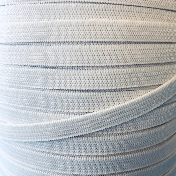 Flat Knitted Elastic - 6mm - Ideal for masks (5m from £1.50)-Splashings of Fabric-Splashings of Fabric