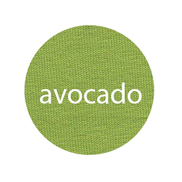 Avocado - Organic Jersey-Wolf and Rabbit-Splashings of Fabric