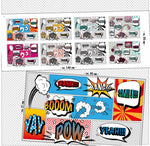8x Comic Facemask - Panels - Organic Cotton Poplin-Lillestoff-Splashings of Fabric