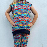EXCLUSIVE - Little Monster Rainbows - Navy - French Terry-Custom-Splashings of Fabric