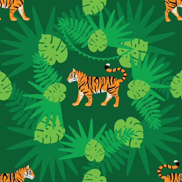 Tigers - French Terry-Custom-Splashings of Fabric