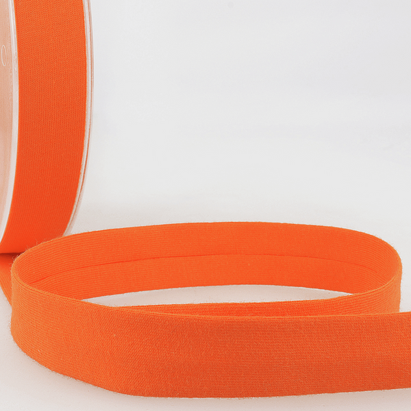 Orange - 20mm - Stretch Bias Binding-Stephanoise-Splashings of Fabric