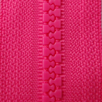 Pink B47 - Open Ended Chunky Zip-Splashings of Fabric-Splashings of Fabric