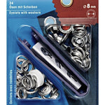 Prym Eylets with Washers - 8mm Tool Kit - Silver-Prym-Splashings of Fabric