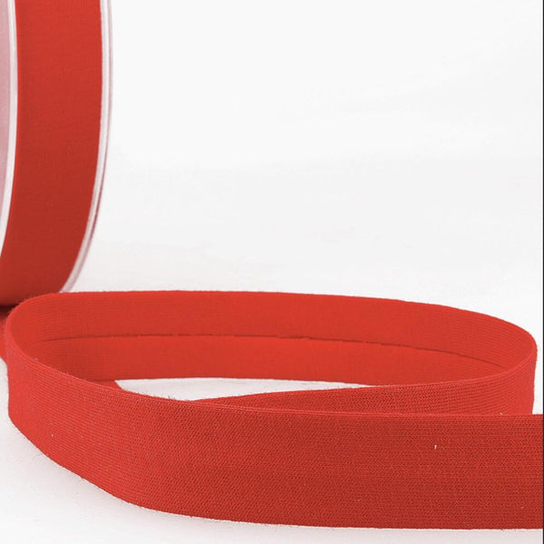 Red - 20mm - Stretch Bias Binding-Stephanoise-Splashings of Fabric