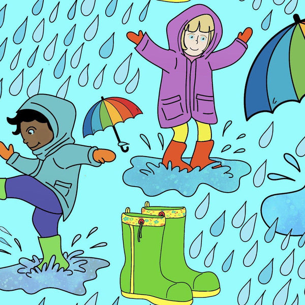Puddle Jumping - Cotton Lycra-Custom-Splashings of Fabric