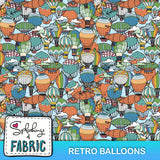 Retro Balloons-Custom-Splashings of Fabric