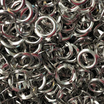 Silver - 11mm Open Ring Snap - 20pk-Splashings of Fabric-Splashings of Fabric