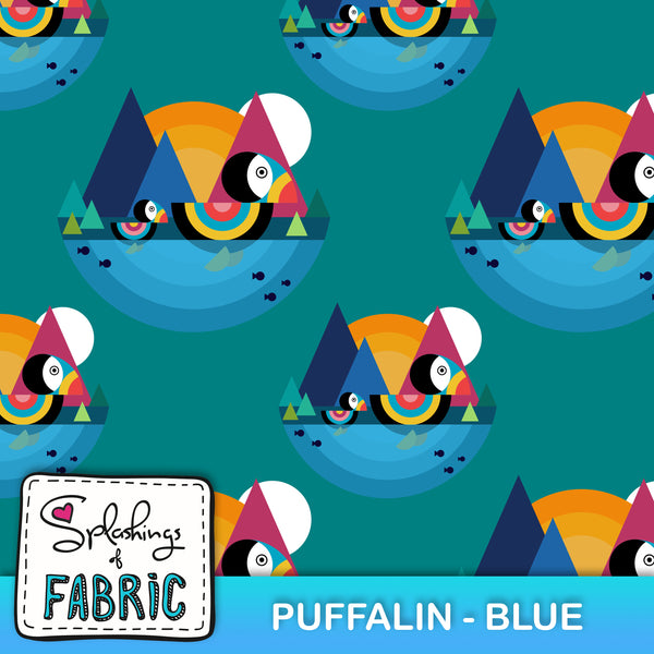 EXCLUSIVE - Everyday I'm a Puffalin - Blue-Custom-Splashings of Fabric