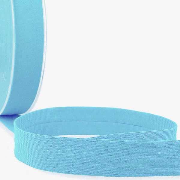 Steel Blue - 20mm - Stretch Bias Binding-Stephanoise-Splashings of Fabric