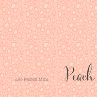 Pastel Mini Leopard Print - Peach - Organic Cotton Poplin-Lillestoff-Splashings of Fabric