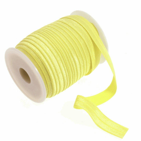 Yellow - 16mm - Fold Over Elastic-Splashings of Fabric-Splashings of Fabric